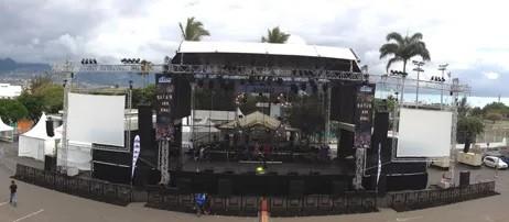 Scène bâchée en aluminium à La Réunion (974)   Stage OI