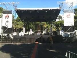 Scène bâchée pour la production de petites manifestations à La Réunion (974)   Stage OI
